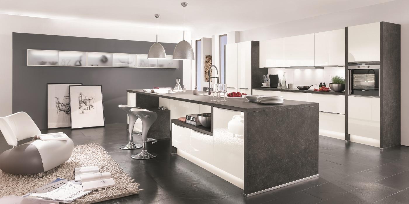 line n von nobilia die grifflose k che. Black Bedroom Furniture Sets. Home Design Ideas